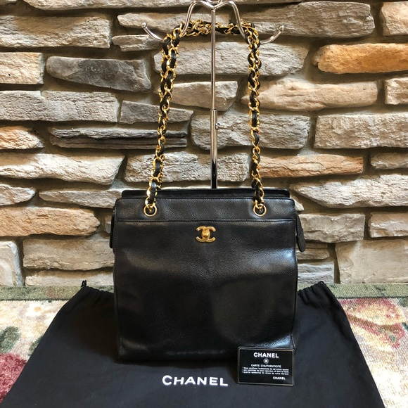 feffbe4988de94 CHANEL Handbags - Chanel Black Caviar Leather Shoulder Bag